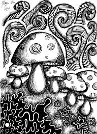Small Picture Trippy Mushroom Coloring Page Adult Coloring Page For Adults