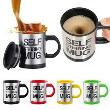 This slot helps you to pass a straw … Self Stirring Electronic Coffee Mug