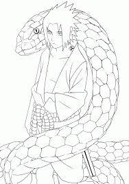 Naruto And Sasuke Coloring Pages Shippuden Printable Online
