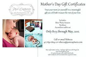 Gift Certificate Wording Photography Gift Certificates Certificate Mo Card Wording Rkawajan