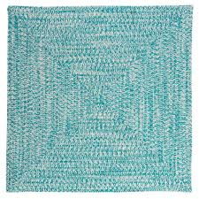 home decorators collection marilyn tweed aqua 10 ft x 10 ft square braided rug