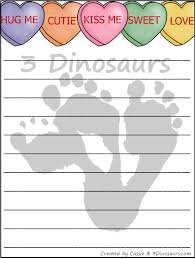 valentines writing paper dinosaurs valentines writing paper printable com