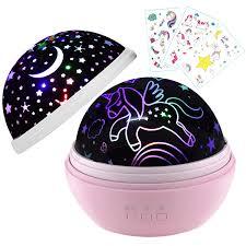 Unicorn Night Light Projector Unicorn Gifts For Girls Kids Light Projector Stars Moon
