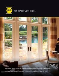 sumptuous pella patio door 350 series sliding