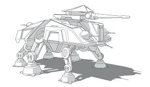 Unique Star Wars Ships Coloring Pages And Clone Wars Tank Coloring