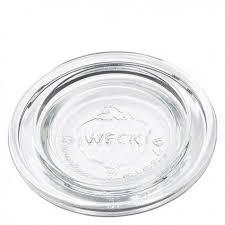 6 couvercles en verre weck diamètre 40 mm