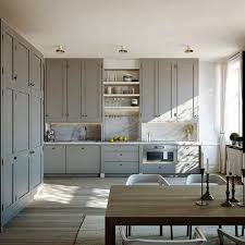 Ceiling Height Cabinets Provide Extra Storage An Accentuate Space In A  Kitchen.