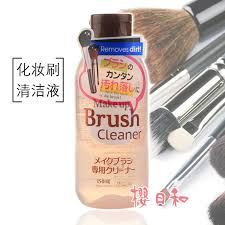 an daiso daiso powder brush cleaner cosmetic brush cleaning fluid wash water 150 ml
