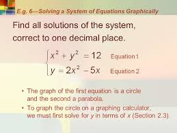 39 e g 6 solving a system of equations graphically