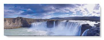 afoss waterfall iceland i canvas