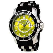 invicta 6988 men 039 s s yellow dial strap gmt dive watch invicta 6988 s dive gmt watch