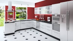 kitchen design white cabinets stainless appliances. Custom Modern Kitchen With Red Walls, White Cabinets, Black And Floor Stainless Design Cabinets Appliances L