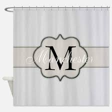 monogram shower curtain for a simple and beautiful look isomeris com house ideas