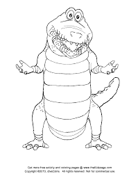 Small Picture crocodile coloring page crocodiles in a swamp coloring page free
