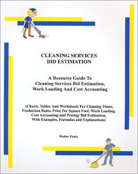 Commercial Cleaning Price Chart Cleaning Services Bid Estimation Walter Fenix Amazon Com