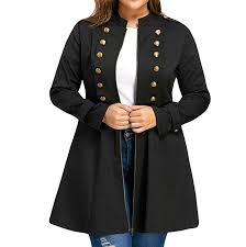 <b>Women'S</b> Double Breasted <b>Jackets Trench</b> Coats Plus Size ...