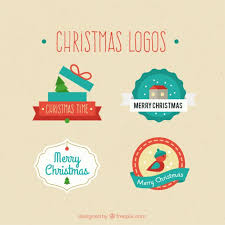 Collection Of Christmas Logos Vector Free Download