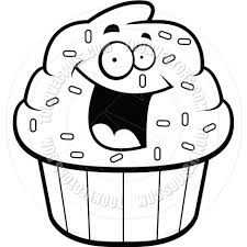cupcakes drawing black and white. Delighful Drawing Cupcake Drawing Black And White To Cupcakes And G