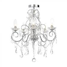 daphne 5 light bathroom chandelier chrome