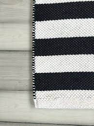 black white rugs runner woven washable cotton 3x5