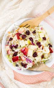 apple cranberry almond coleslaw salad no mayo coleslaw
