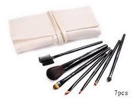 outlet mac makeup brushes 7 pcs set milky white