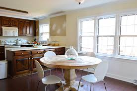 blue gray paint colorA Soft BlueGray Paint Color For The Kitchen  Young House Love