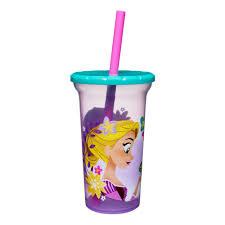 Zak Designs Straws Disney Tangled Zak Designs Plastic Tumbler With Lid Straw