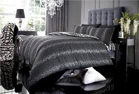 image of grey leopard print bedding