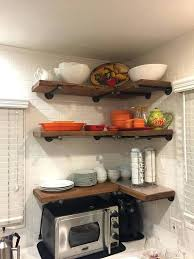 rustic floating corner shelves set of 3 deep industrial