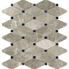 Silver Creek Kitchen Cabinets Anatolia Tile Silver Creek Diamond Mosaic Marble Wall Tile Common