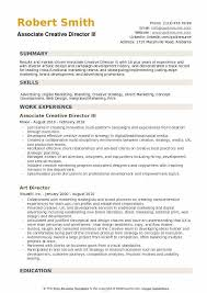Creative Marketing Resume Associate Creative Director Resume Samples Qwikresume