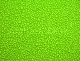 Water Drops On Green Background And Stock Image