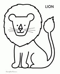 little lion coloring for kids lion coloring pages ikids