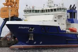 Судно Эльбрус вышло на контрольные испытания в Балтику Головное