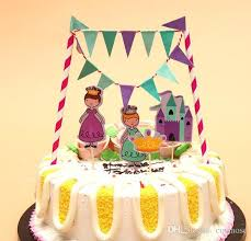 2019 Happy Birthday Cake Topper Cupcake Toppers Cartoon Kids Favors