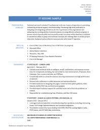 Information Technology Resume 5 Information Technology Resume