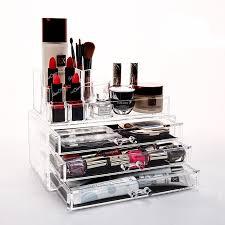 qubabobo makeup organizer acrylic storage box clear cosmetic drawers jewelry drawer multi function makeup brush whole