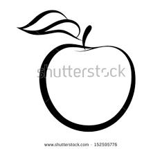 apple logo vector. vector monochrome illustration of apple logo. many similarities to the author\u0027s profile logo
