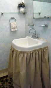 find this pin and more on diy home mood lighting glam small bathroom skirt sink