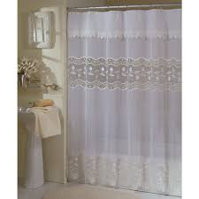 macrame curtains the polyester shower curtain is sheer voile with embroidered vining leaves on organza fabric insert and delicate macrame trim shower