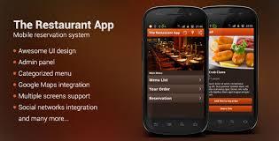 restaurant menu design app 9 useful android ios restaurant app source codes design