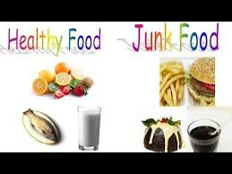 Junk Food Healthy Food Chart Healthy Food And Junk Food For Preschool Children And