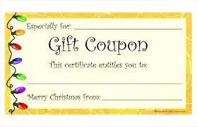 Custom Gift Certificate Templates Free Custom Gift Certificates Blank To Print Printable Christmas