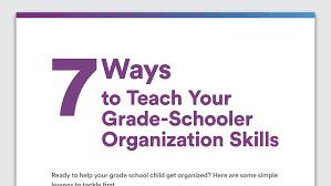 organization skills in grade school tips to get organized