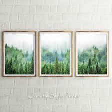 set of 3 prints forest prints wilderness print wall art scandinavian forest on set of 3 wall art australia with set of 3 prints forest prints wilderness print wall art