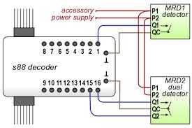 connect infrared train detector to s88 feedback decoder marklin s88 input wiring