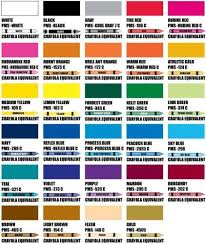 Our Color Chart Screen Print Ink Colors