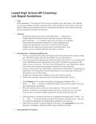 lab report example chemistry sample apa style outline for a 5 paragraph argumentative essay