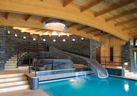 indoor pool and hot tub with a slide. Brilliant Indoor Tastefully Done Indoor Pool With Water Slide And Hot Tub WOW Inside Indoor Pool And Hot Tub With A Slide C